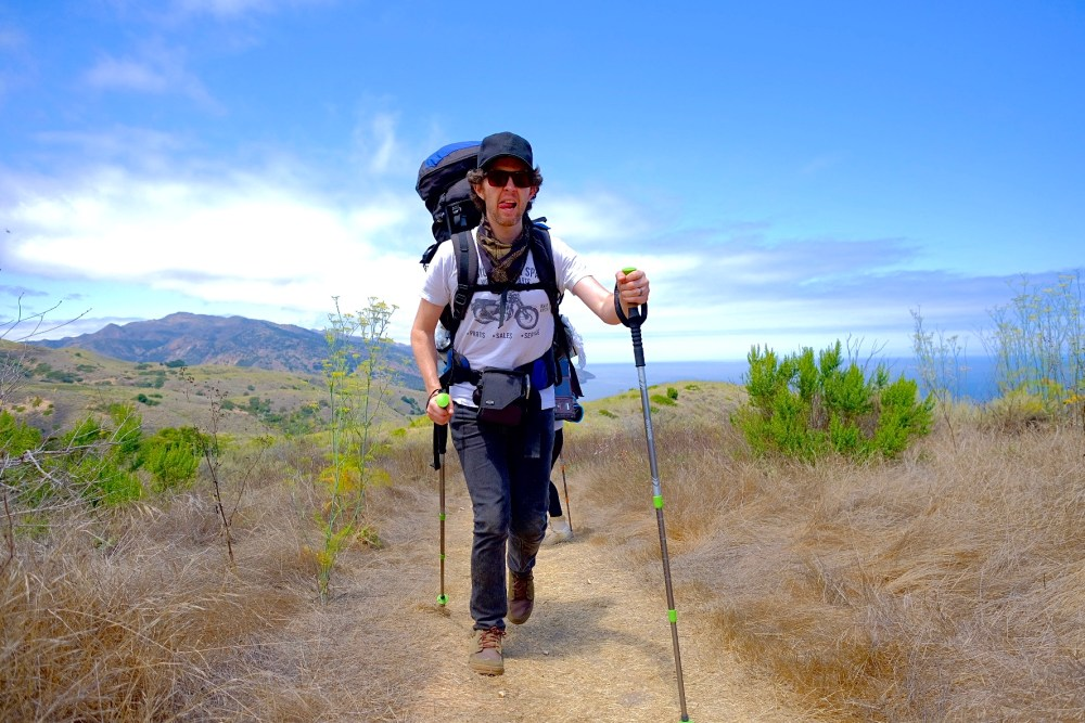 Bryan Olinger backpacking