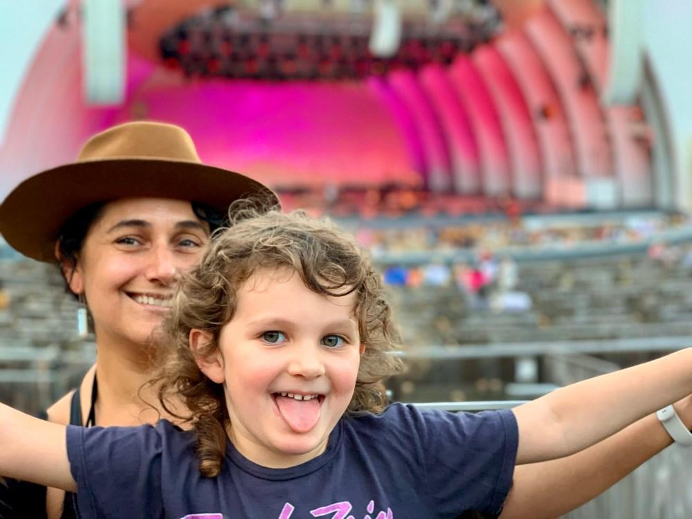 Sandra Burciaga Olinger and her daughter at the Hollywood Bowl