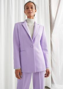 &others stories lilac blazer
