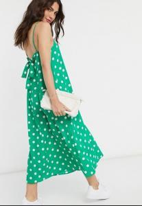 ASOS Polka Dot Slip Dress