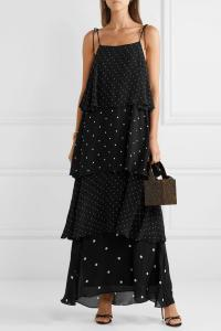 Anine-Bing-Tiered-Polka-Dress