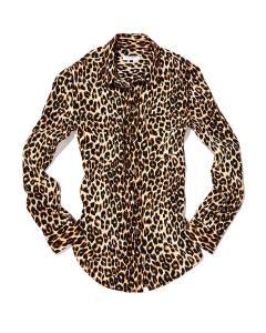 Equipment Leopard Print Blouse-WP