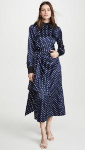 Keepsake Polka Dot Midi Dress