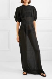 Matin-Este-lace-Trimmed-Dress