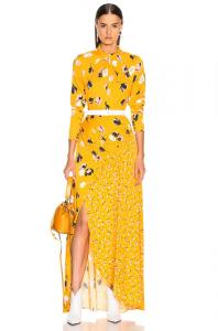 Self-Portrait-Floral Twist Neck-Maxi-Dress