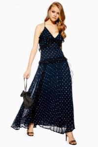 Topshop-Lace-Metallic-Thread-Pleat-Dress