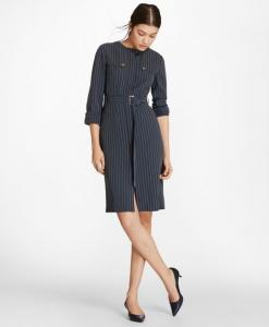 brook-brothers-pinstripe-trench-dress