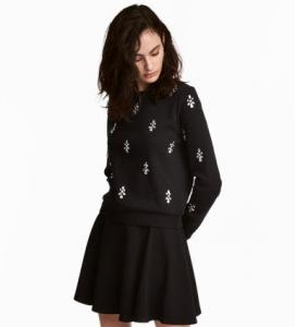 Sweatshirt with Rhinestones; H&M, $35