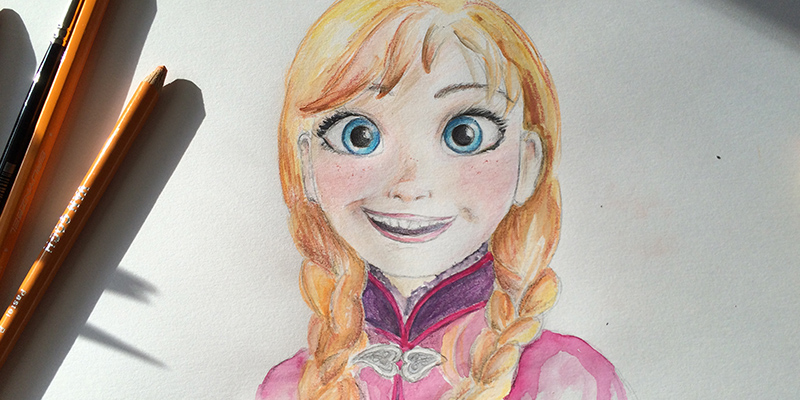 Anna van Frozen / tekenen