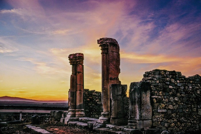 Roman ruins at Volubilis, Meknes, Morocco. Photo credit: Mark A Neal, Flickr