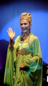 Paris Hilton in a Moroccan Caftan