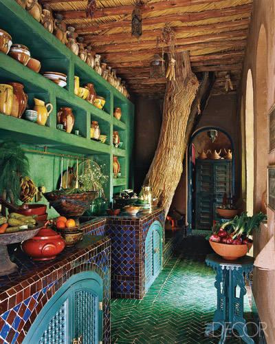 Liza Bruce's Stylish Moroccan Kitchen, Elle Decor