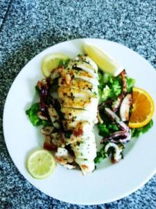 Moroccan Grilled Calamari