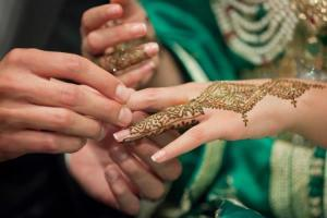 Moroccan Bride's Hand embellished with henna
