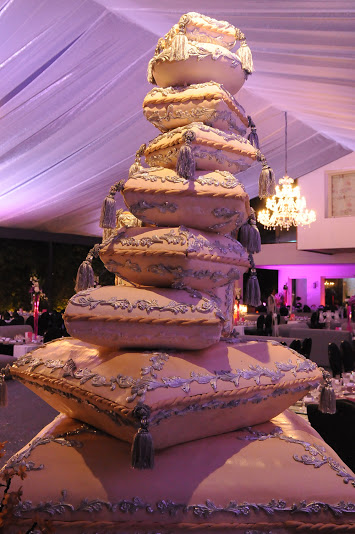 Moroccan Inspired Wedding Cake by Rahal Catering, Morocco