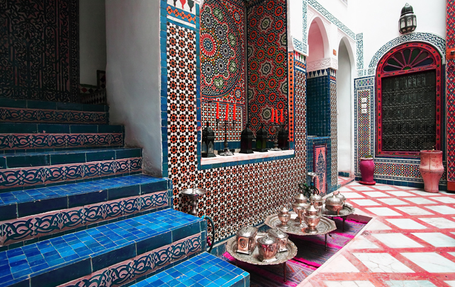Moroccan Tiled Stairs, Image source: pinterest