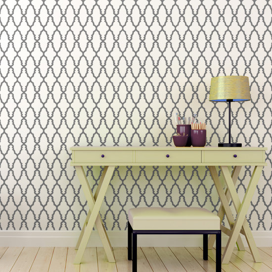 moroccan wall stencil for office space, shop this item here