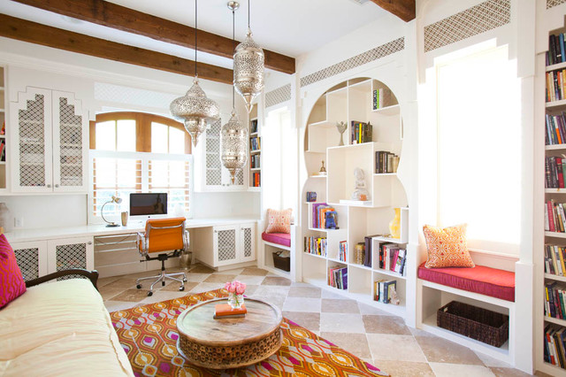 Moroccan Style Home Office, Image Source: Houzz