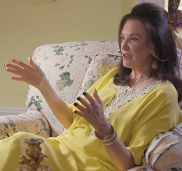 patricia-altschul-in a yellow kaftan, Photo via Bravo tv