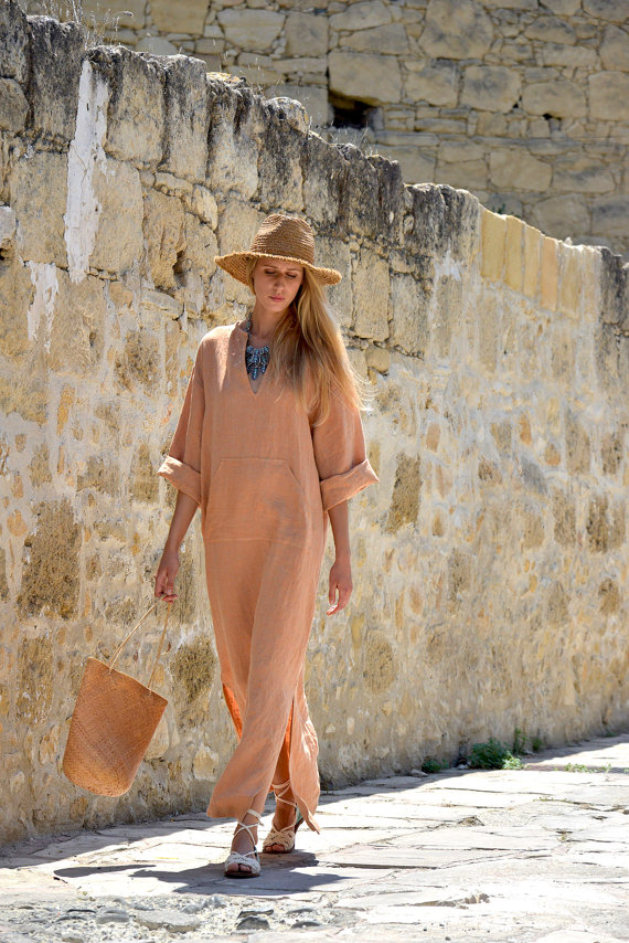 Pure linen women's kaftan, Shop this Item HERE