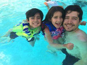 Papi & Kids Pool Time