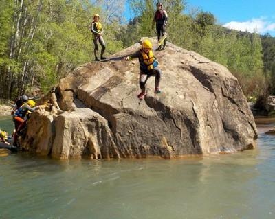 Trekking acuático el primer salto