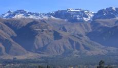 Vista del Tunari nevado desde Vinto