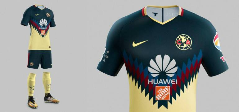 El nuevo uniforme del am rica dise o espectacular y un for Cuarto uniforme del america