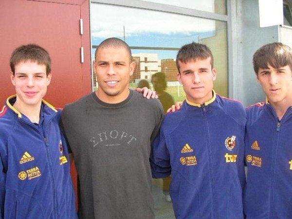 (De izqda a dcha) Azpilicueta, Ronaldo, Pedro Lozano y Jorge Miramón