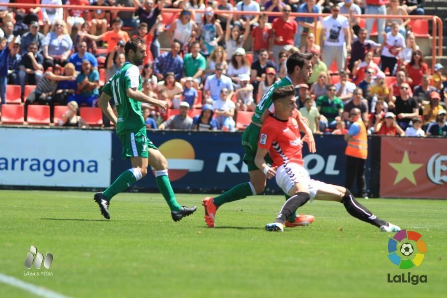 Naranjo en un partido ante el C.D. Leganés.