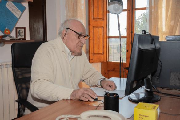 El padre Joaquín, quien tiene 80 años, forma parte de la comunidad de religiosos del Santuario de San Ramón Nonato, también casa de noviciado de la Orden de la Merced en España.