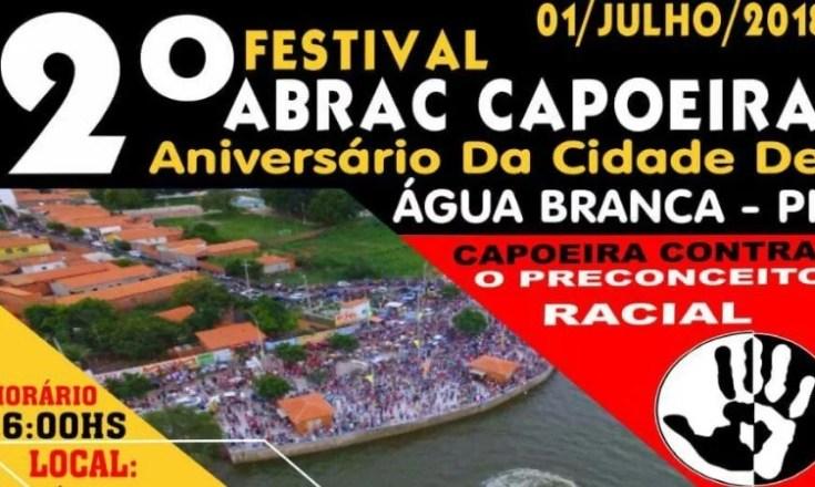 Festival abrac Água Branca capoeira