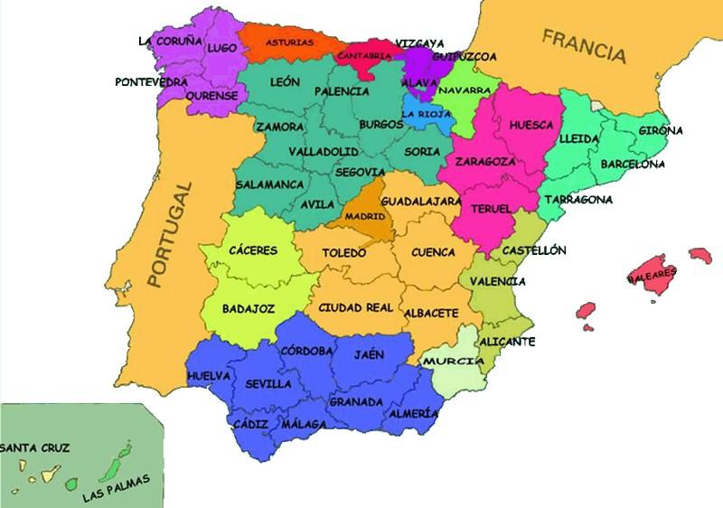 Subdivisiones de España