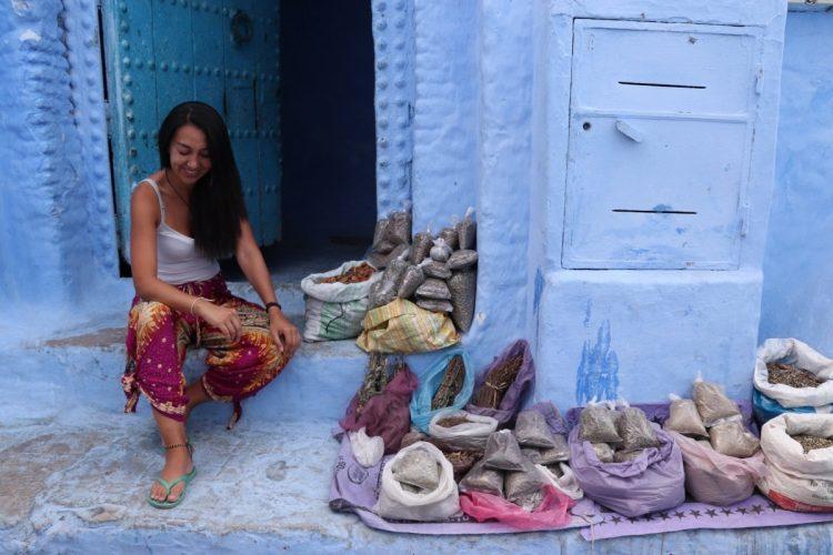Chefchaouen Marruecos especias