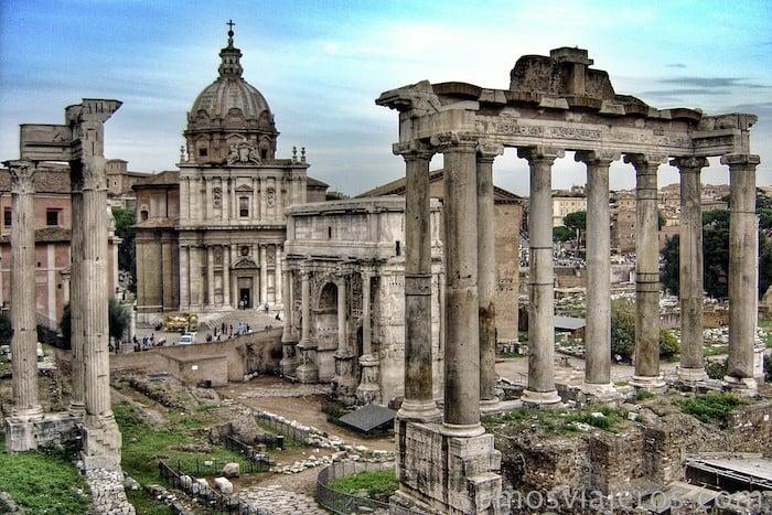 Resultado de imagen de templo de saturno roma