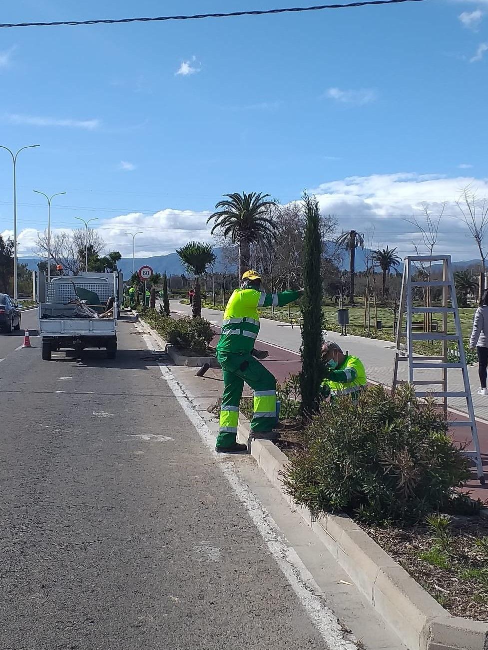 trabajos carretera grau