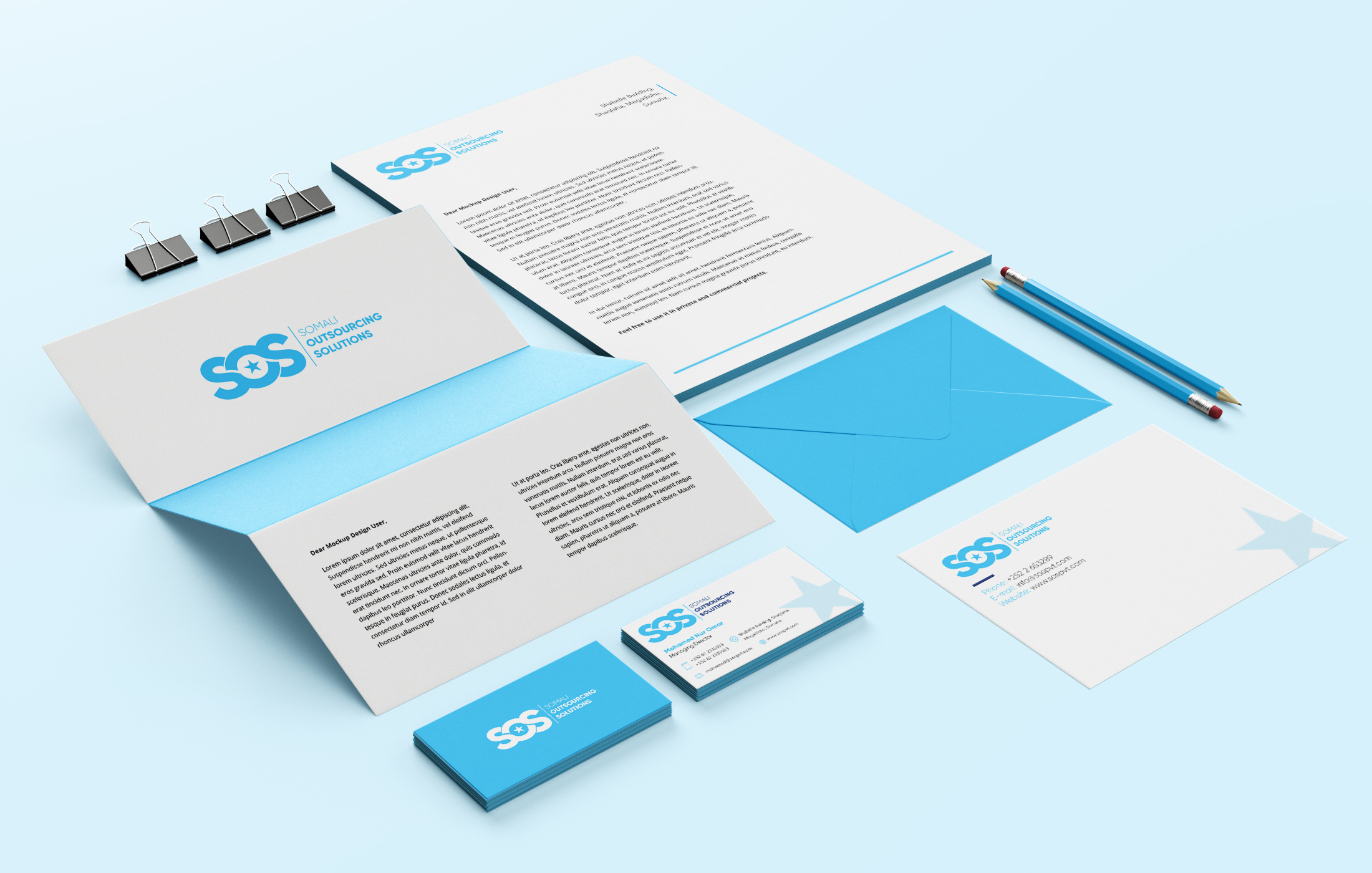 SOS Stationary Branding