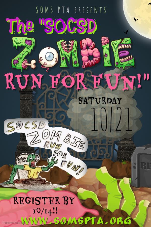 u201csocsd zombie run for fun  u201d  u2013 soms pta