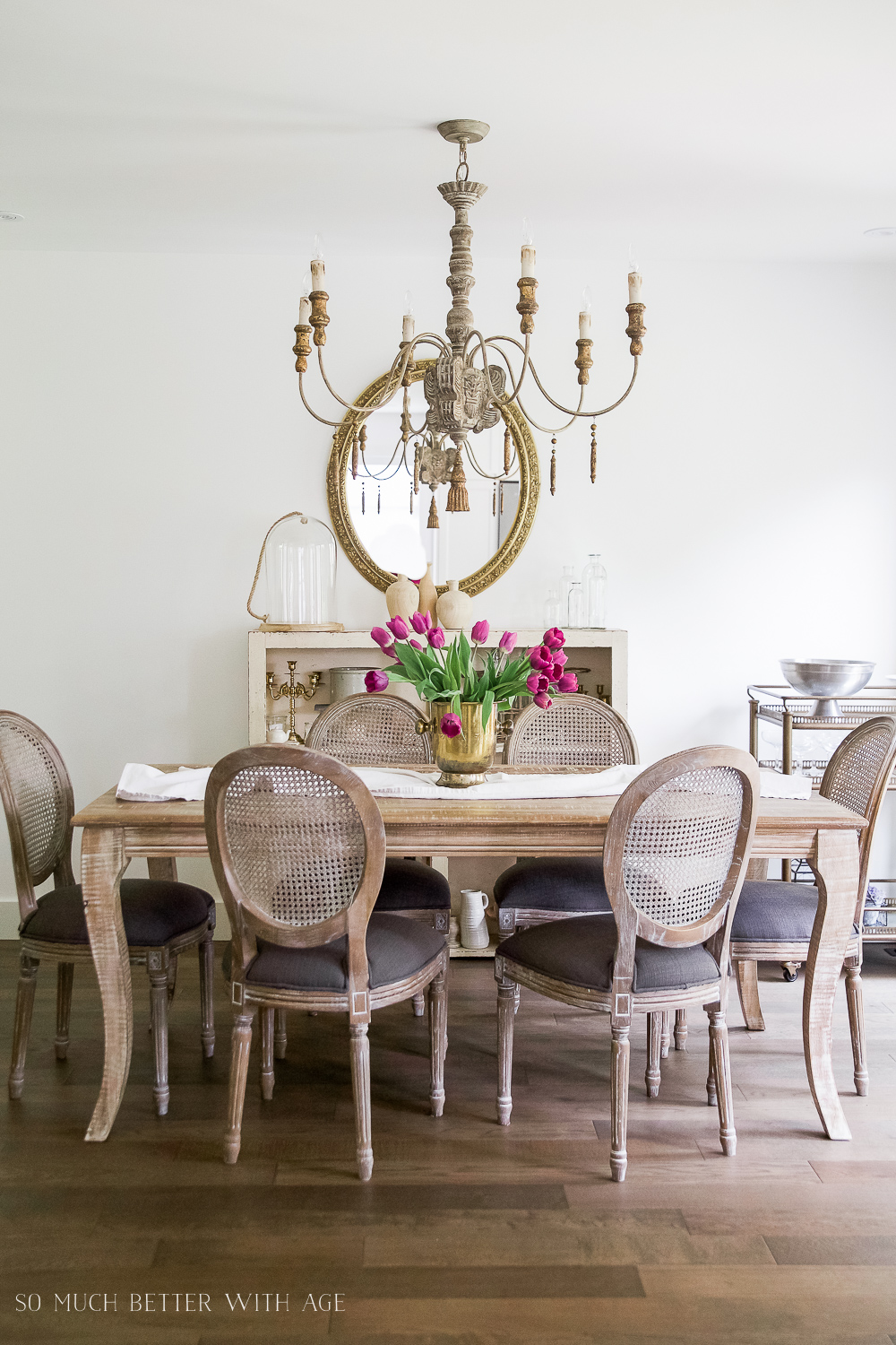 French Vintage Dining Room  Before and After  So Much