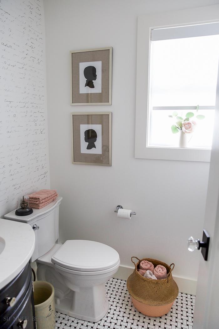 Black White  French Powder Room Makeover  So Much