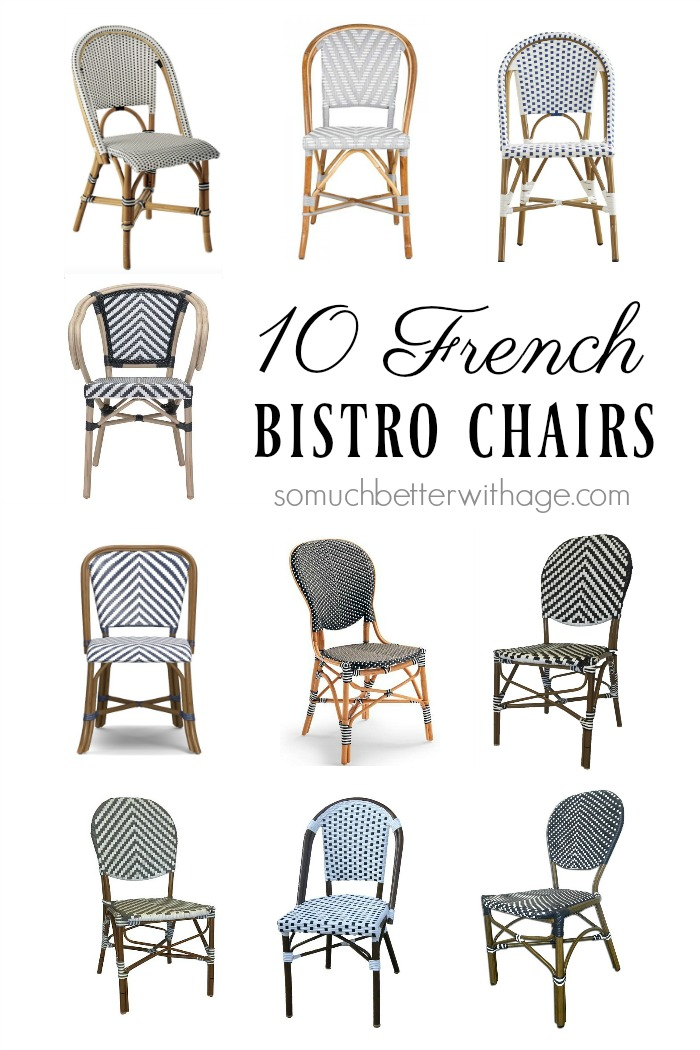 10 french bistro chairs so much