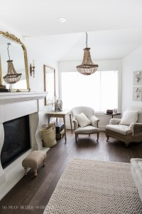 French Vintage Living Room and Foyer
