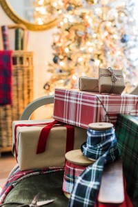 Plaid Christmas Decor in the Living Room | So Much Better ...