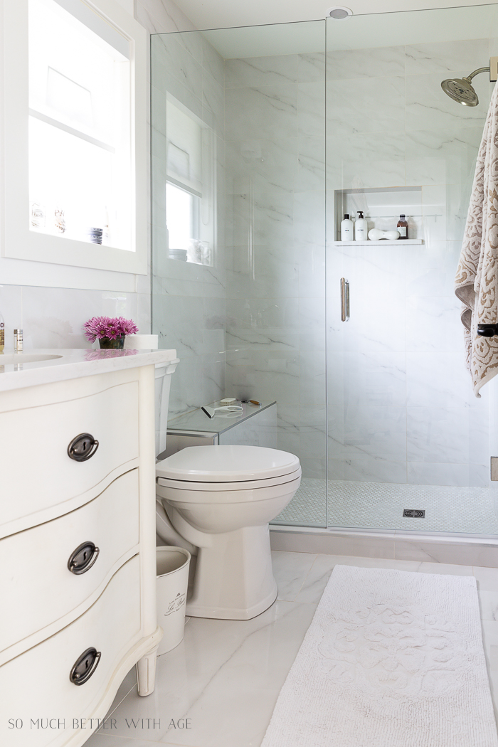 faux carrara marble porcelain tile so much better with age
