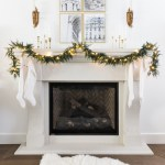 How To Hang Lighted Garland On The Mantel Video So Much Better With Age