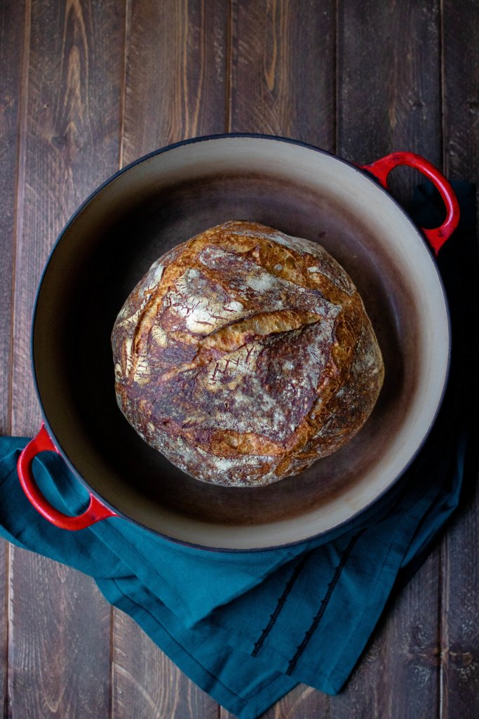 easy overnight sourdough bread