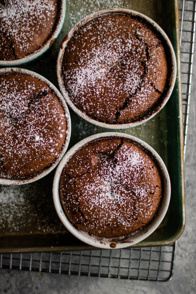 nutella molten chocolate cakes
