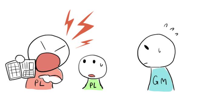 困ったPLのイラスト