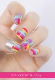 swirl nails - fun summer nail design