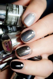 ombre black nails with jacqueline